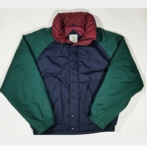 Vtg Puffy Colorblock Unisex 80s 90s Retro Jacket